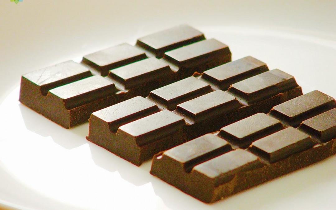 Barras de chocolate negro