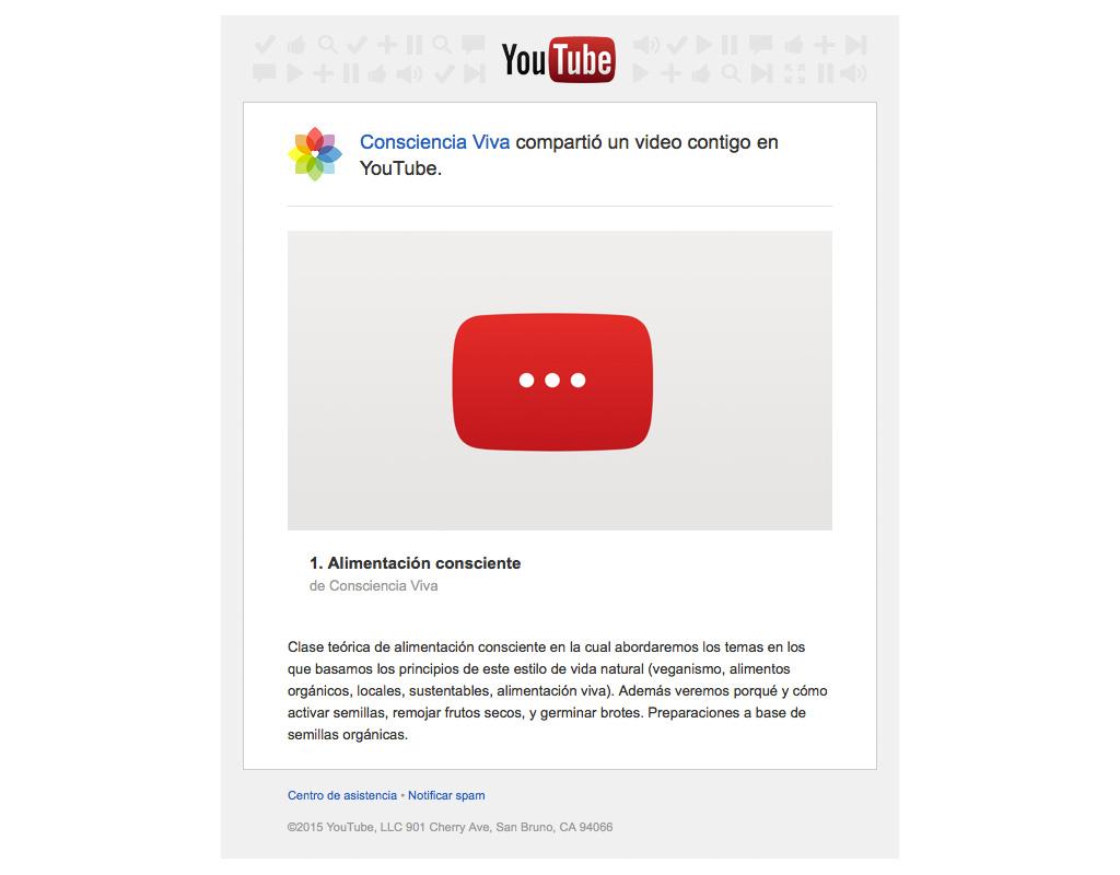 Invitación al canal YouTube