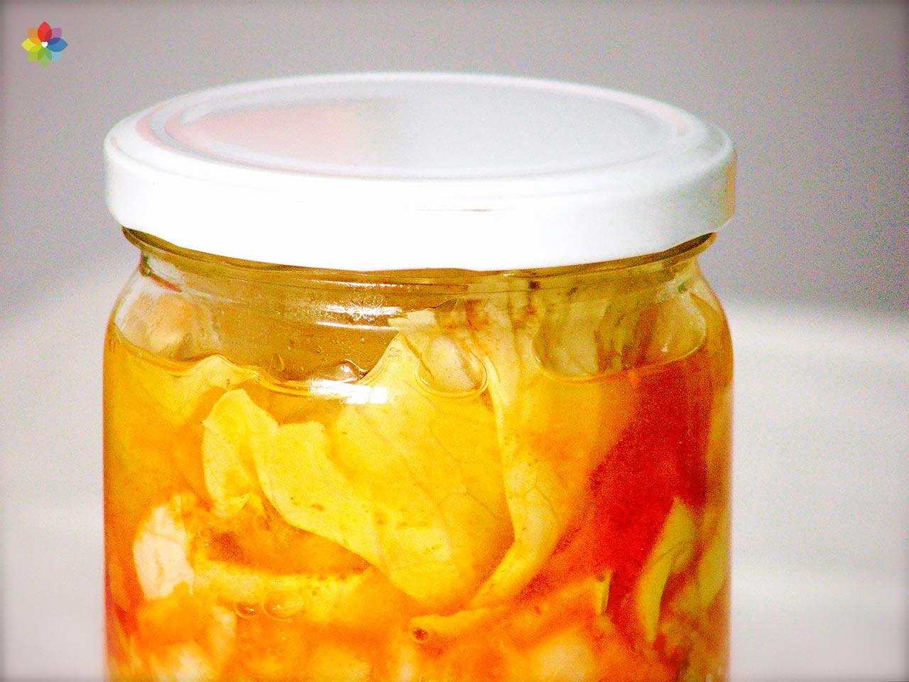 Kimchi de repollo blanco y hakusai