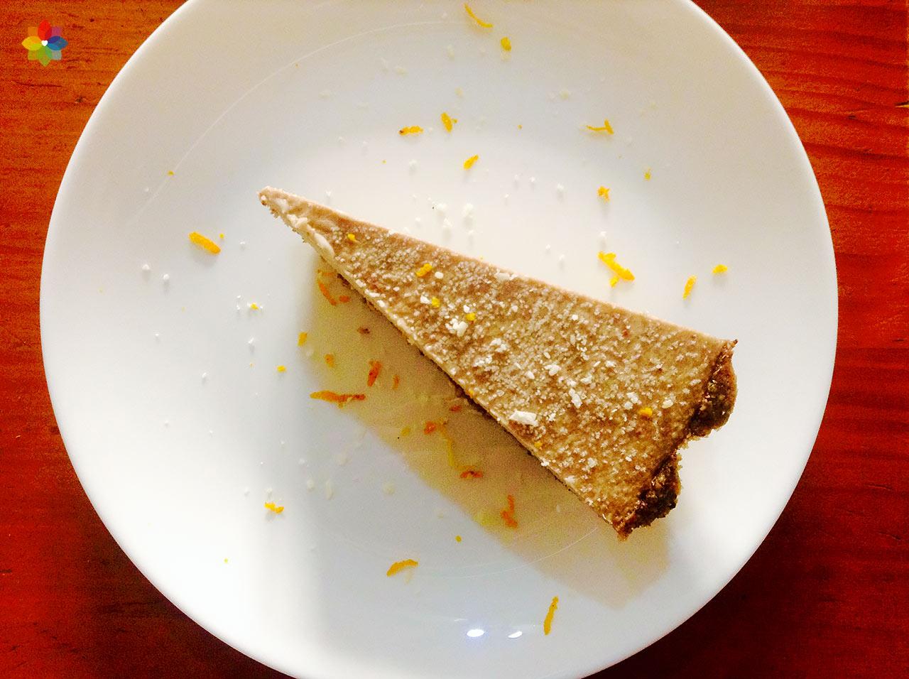 Tarta de banana y coco